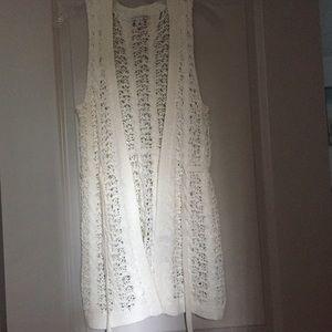 Banana Republic Crochet Sleeveless Cardigan